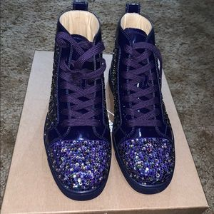 the latest daf30 ae453 Christian Louboutin Purple Pop Strass Sneakers NWT